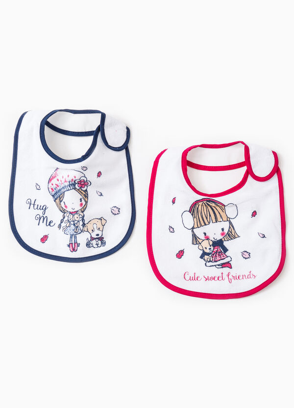 Two-pack cotton printed bibs | OVS