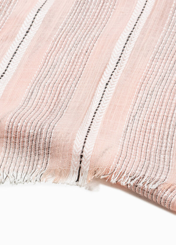 Striped scarf with lurex | OVS