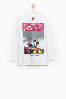 T-shirt with Mickey Mouse print, White, hi-res
