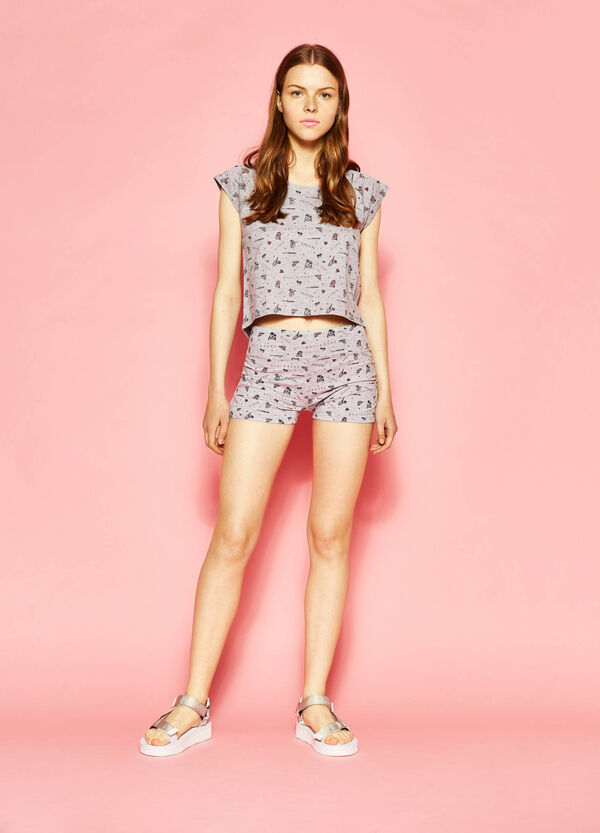 Patterned crop T-shirt by Maui and Sons | OVS