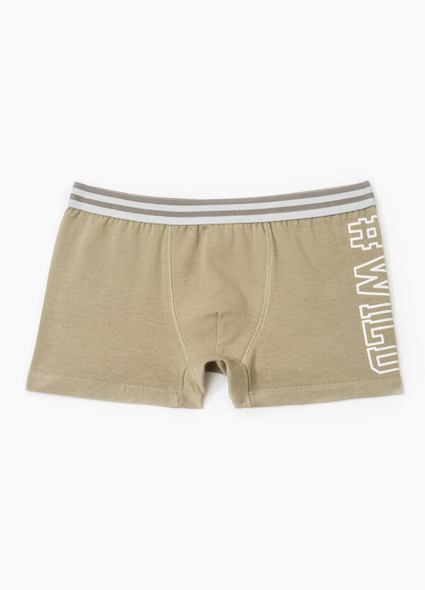 Boxer shorts in cotton with printed lettering | OVS
