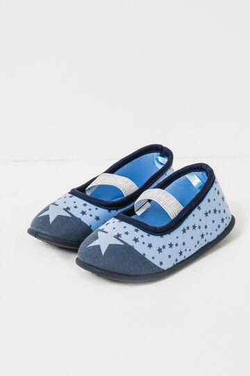 Pantofole con elastico fantasia stelle, Azzurro, hi-res