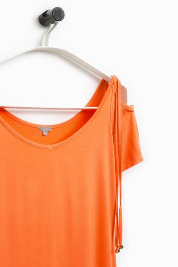 T-shirt con laccetti Smart Basic, Arancione, hi-res
