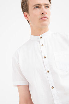 100% cotton shirt with pocket, White, hi-res
