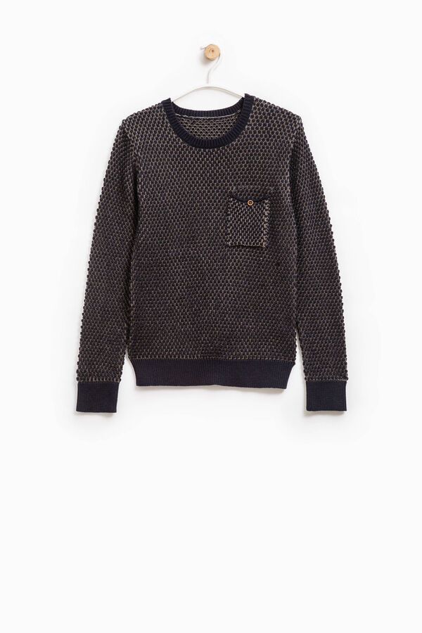 Knitted cotton pullover with pattern   OVS