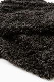 Fur neck warmer, Black, hi-res