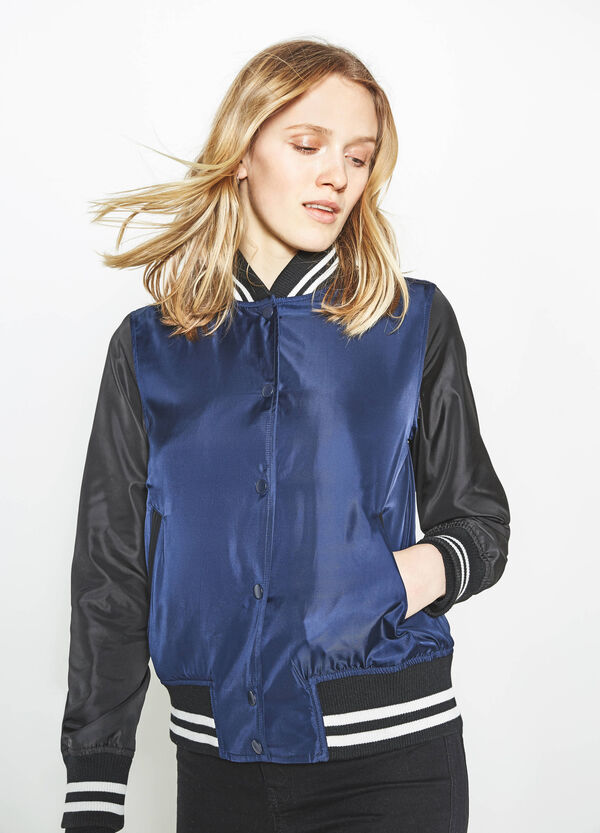 Bomber jacket with contrasting sleeves | OVS