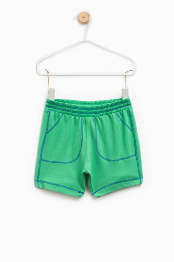100% cotton shorts, Green, hi-res