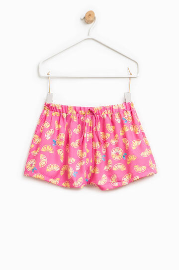 Fruit motif patterned shorts