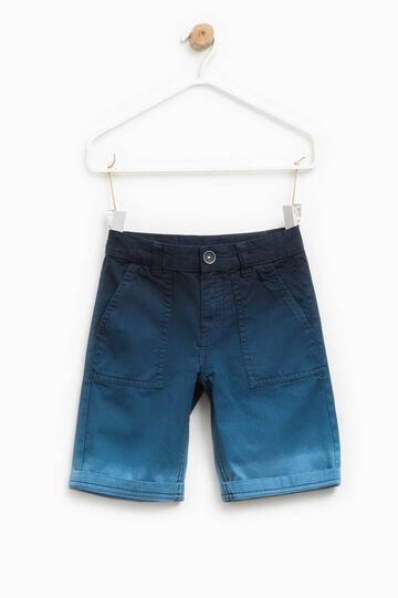 100% cotton degradé Bermuda shorts, Blue/Light Blue, hi-res