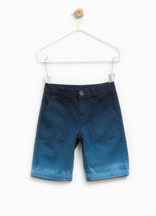100% cotton degradé Bermuda shorts | OVS