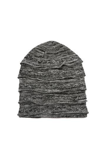 Solid colour beanie cap, Black, hi-res