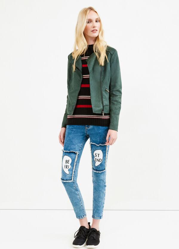 Suede look cropped jacket | OVS