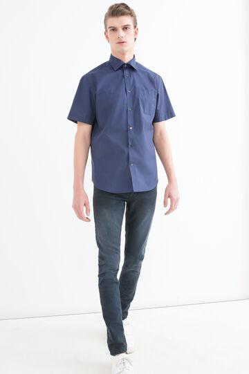 Camicia regular fit tinta unita