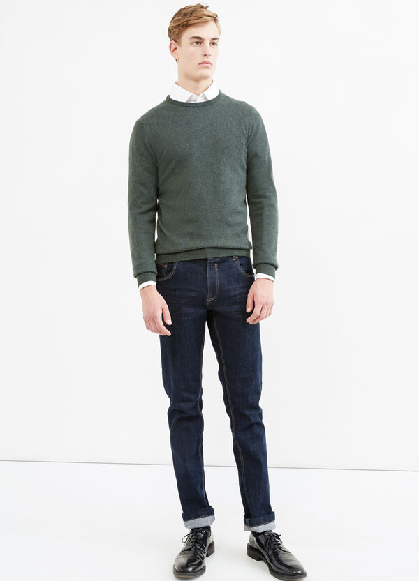 Solid colour cashmere and silk pullover | OVS