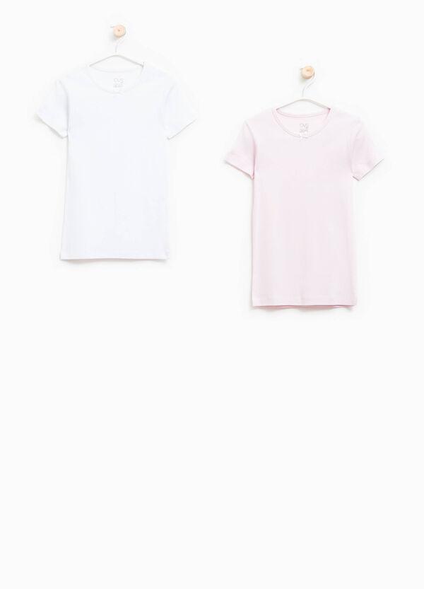 Set due t-shirt intime con fiocchetto   OVS