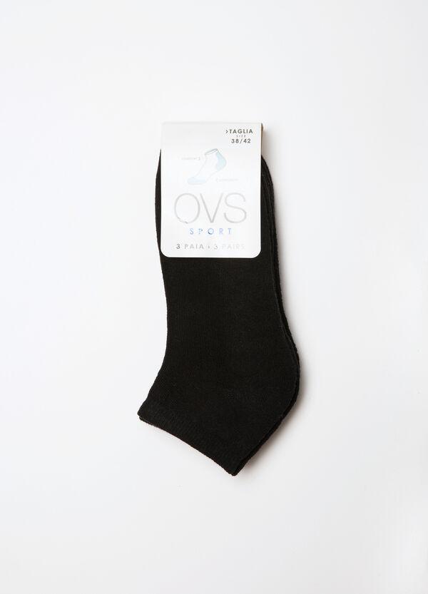 Three-pack cotton blend socks | OVS