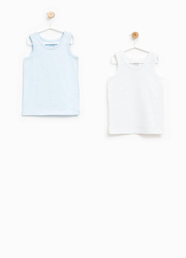 Pack de dos camisetas interiores en algodón 100% | OVS