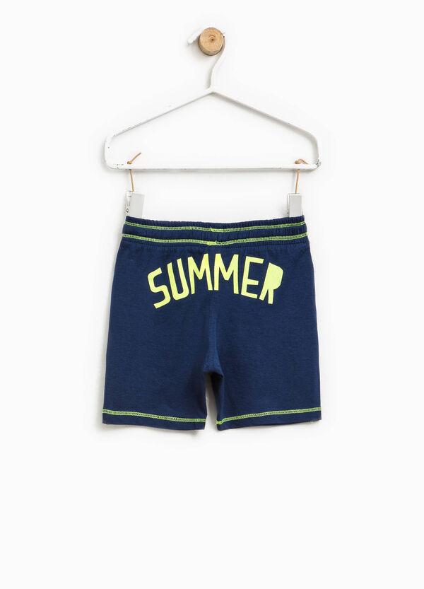 Bermuda shorts with printed back | OVS