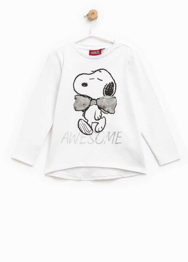 T-shirt in cotone con stampa Snoopy | OVS