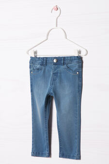 Faded effect stretch jeans, Denim Blue, hi-res