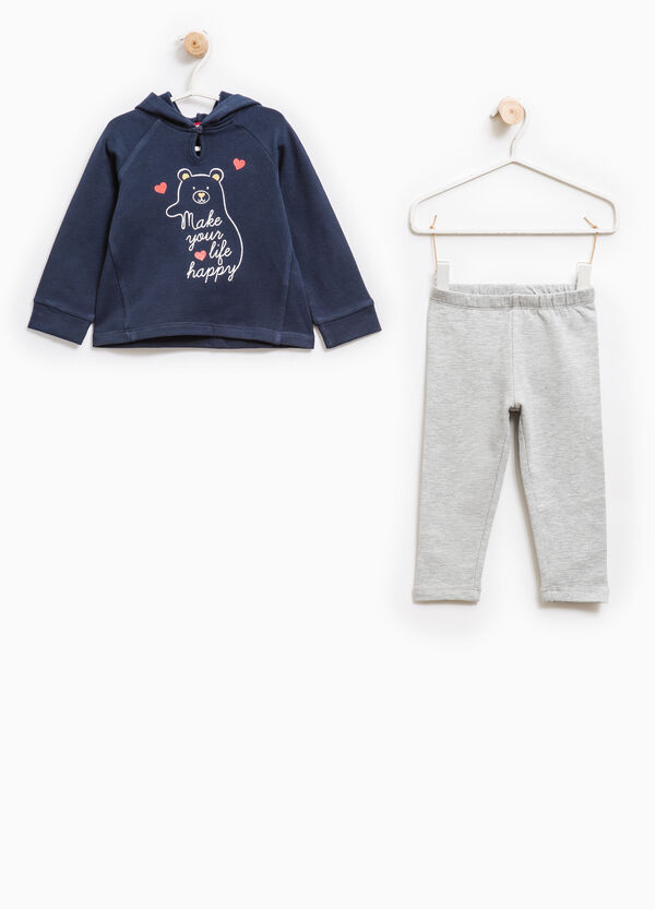Cotton tracksuit with hoodie | OVS