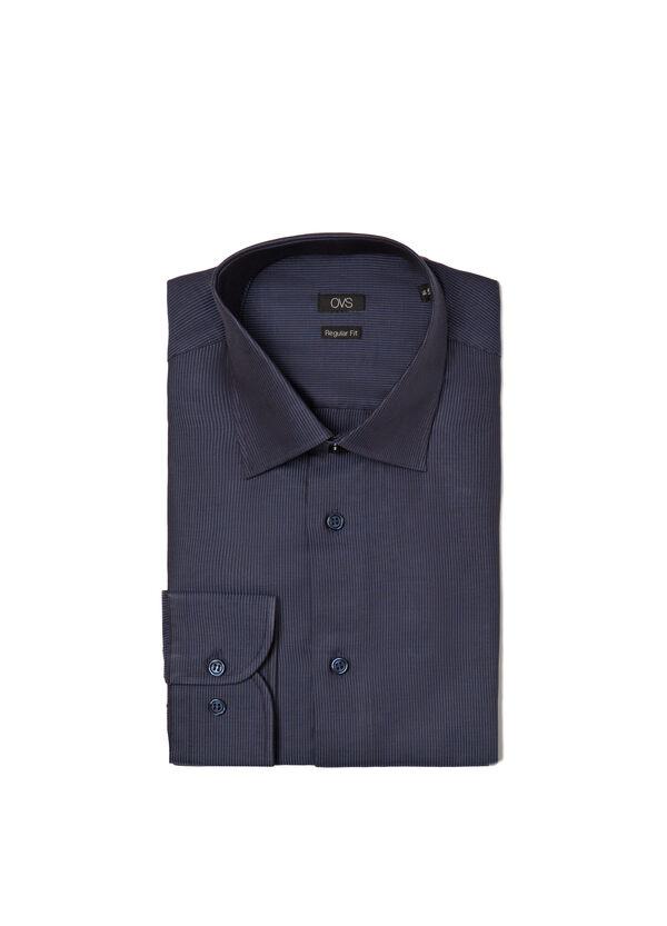 Camicia regular fit misto cotone righe   OVS
