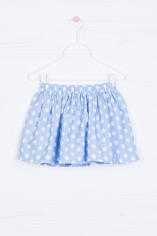 Skirt with polka dot print., Multicolour, hi-res