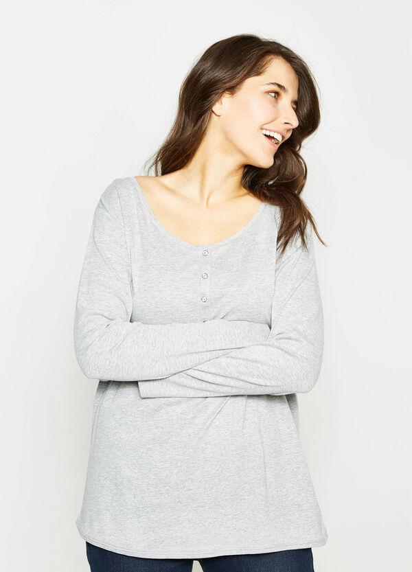 Camiseta en algodón 100% en color liso Curvy | OVS