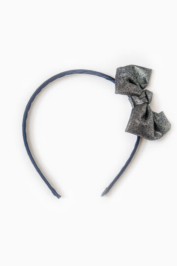 Hairband with bow, Navy Blue, hi-res