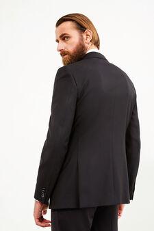 Regular-fit viscose blend jacket, Black, hi-res