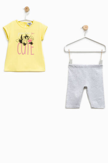 Outfit with Sylvester the Cat print, Multicolour, hi-res