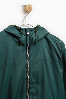Hooded windbreaker, Green, hi-res