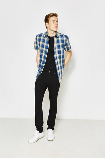 Regular-fit casual tartan shirt