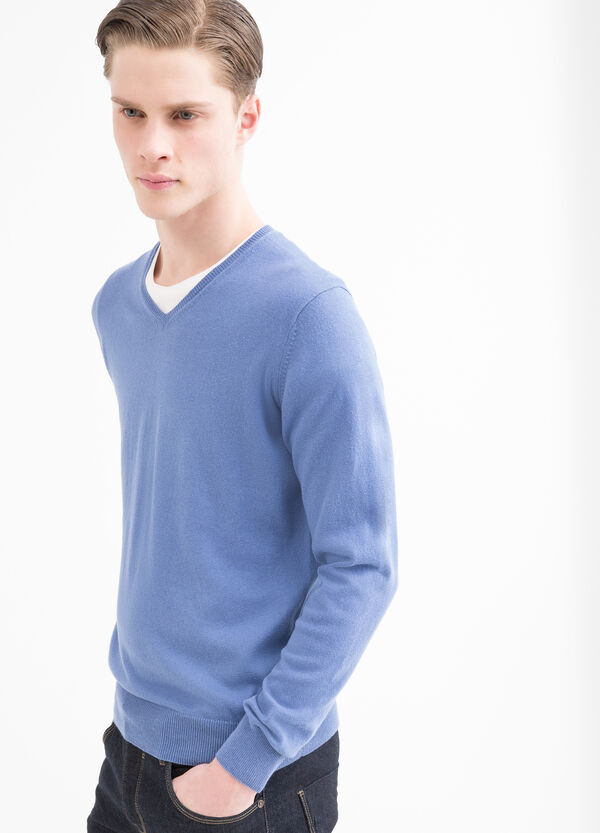 V-neck 100% cotton pullover | OVS