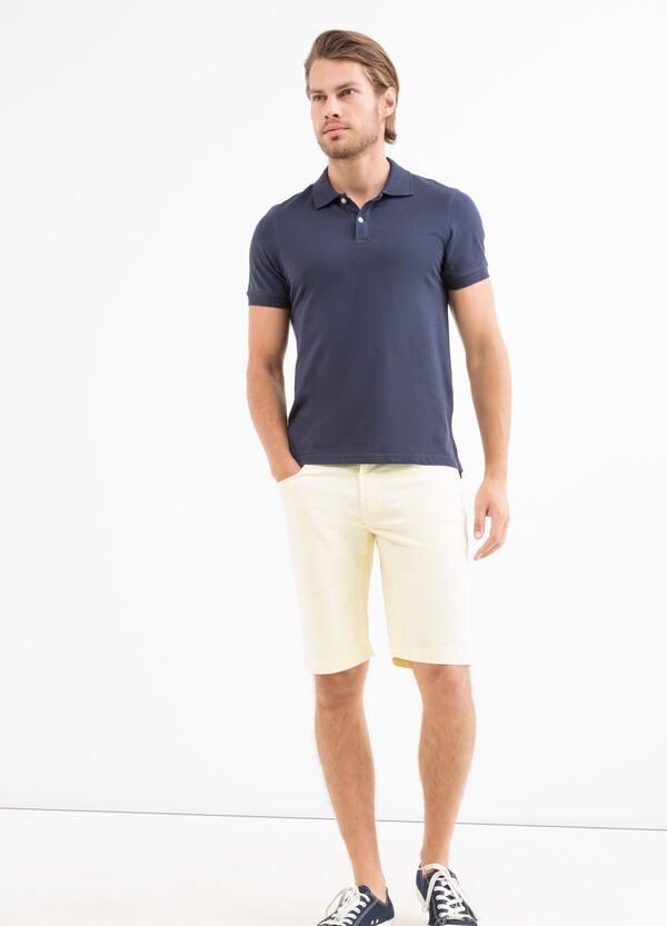 Bermuda cotone stretch zip | OVS