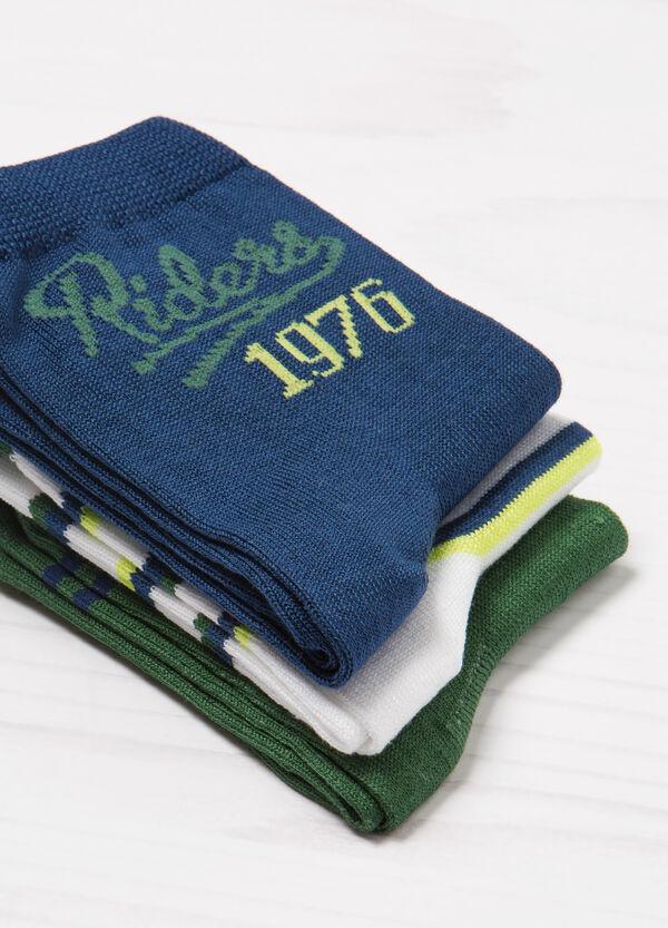 Set tre paia di calze stretch stampa | OVS