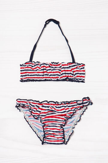 Striped pattern stretch bikini, Multicolour, hi-res