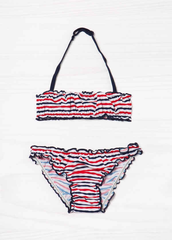 Striped pattern stretch bikini | OVS