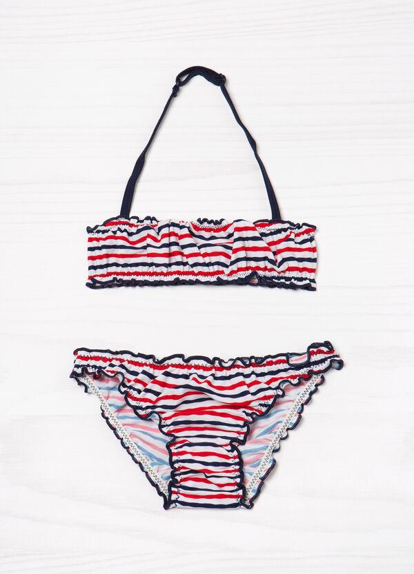 Bikini stretch fantasia a righe | OVS