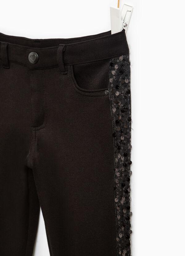 Pantaloni con bande laterali e paillettes | OVS