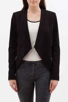 Open stretch jacket, Black, hi-res
