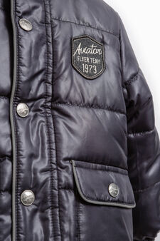 Jacket with double pocket and patch, Navy Blue, hi-res