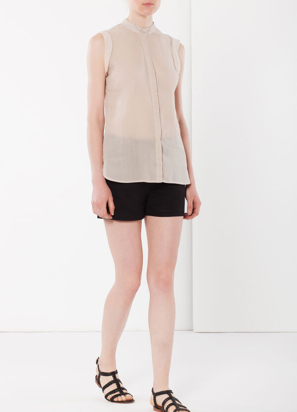 Linen blend sleeveless blouse | OVS
