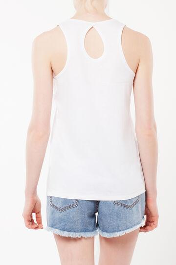 Keyhole top, White, hi-res