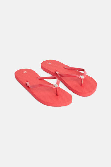 Flip-flops with metal decoration, Red, hi-res