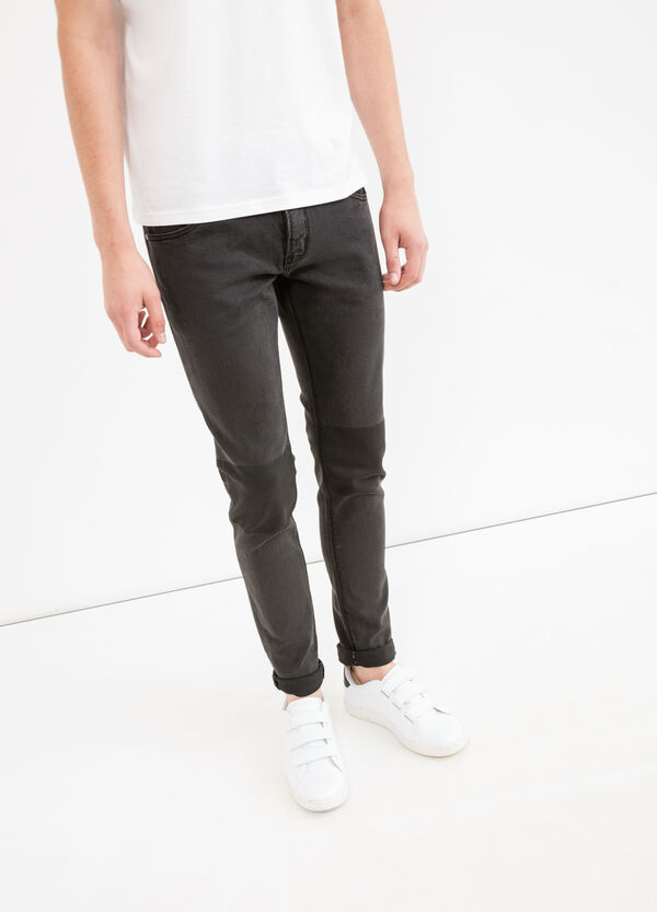 Skinny fit jeans printed at the knee | OVS