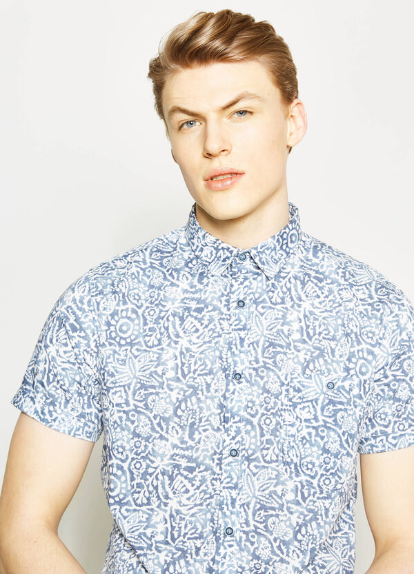 Printed poplin casual shirt | OVS