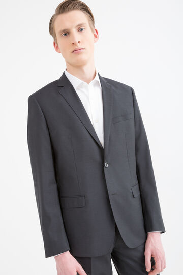 Elegant, slim-fit suit in pure wool, Grey, hi-res