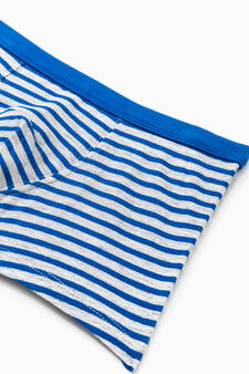 Stretch boxers with striped pattern, Royal Blue, hi-res